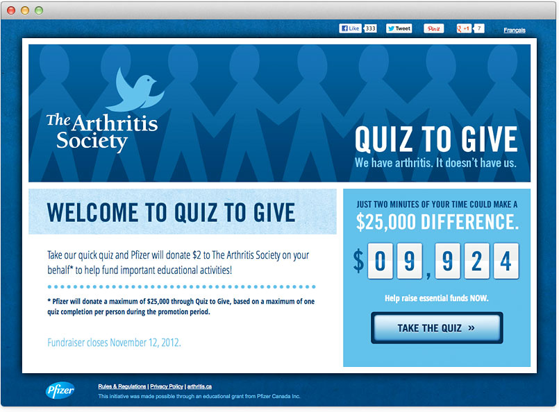 The Arthritis Society Quiz to Give
