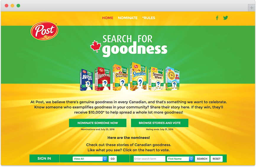 Search for Goodness Post Site
